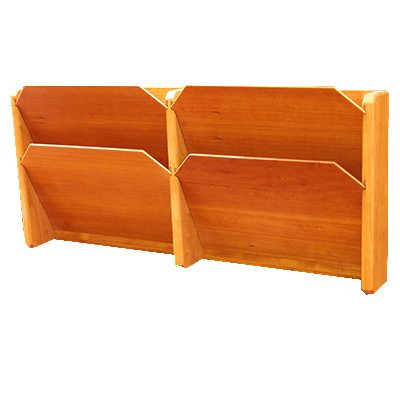 Handmade file rack in Cherry with 4 Bays