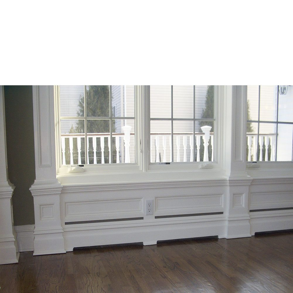 Custom Wood Baseboard Heater Covers Conceal The Behind Panelwork