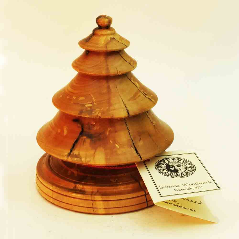 Hand Turned Wooden Christmas tree in Maple